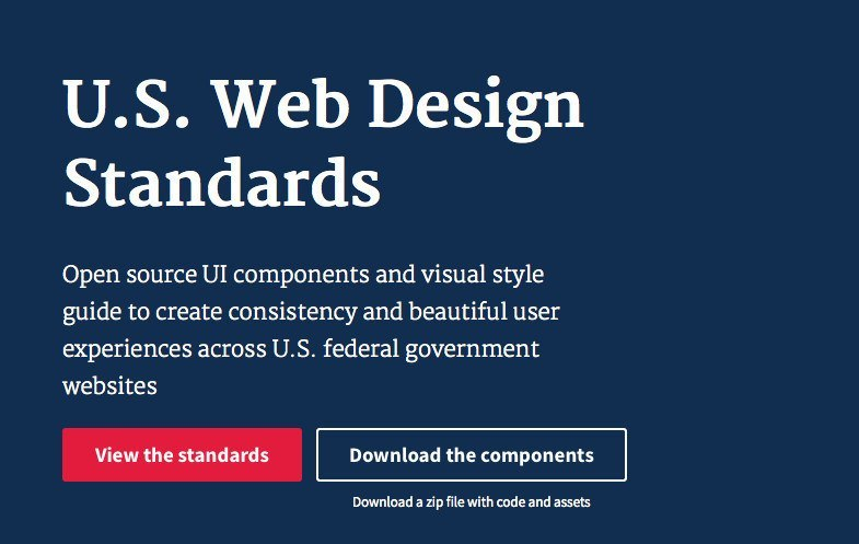Portada de U.S. Web Design Standards